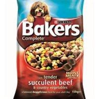 Trockenfutter Purina Bakers Complete Adult Beef & Vegetables
