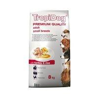 Trockenfutter TropiDog Premium Adult Small Breeds - with Turkey & Rice