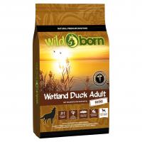 Trockenfutter Wildborn Wetland Duck Adult Mini mit viel Wildente und Kartoffel