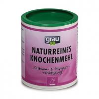 Zusatzfutter Grau Naturreines Knochenmehl